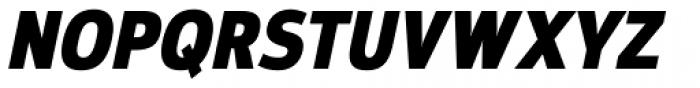 Moveo Sans Cond Black Italic Font UPPERCASE