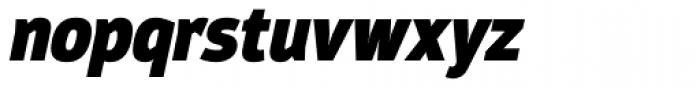 Moveo Sans Cond Black Italic Font LOWERCASE