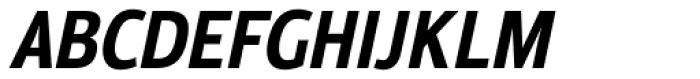 Moveo Sans Cond Bold Italic Font UPPERCASE