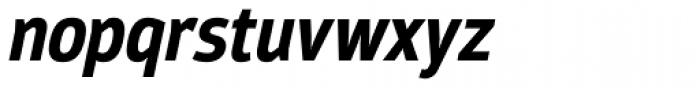 Moveo Sans Cond Bold Italic Font LOWERCASE