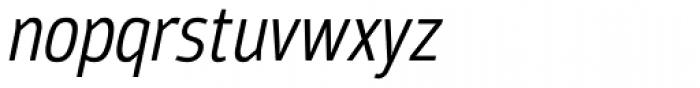 Moveo Sans Cond Italic Font LOWERCASE