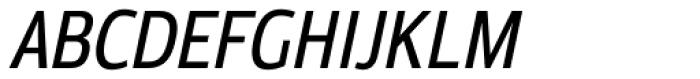 Moveo Sans Cond Medium Italic Font UPPERCASE