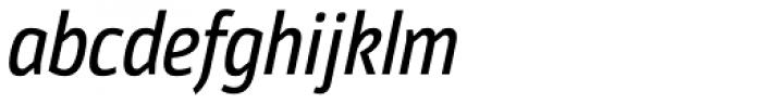 Moveo Sans Cond Medium Italic Font LOWERCASE