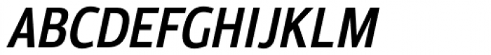 Moveo Sans Cond SemiBold Italic Font UPPERCASE
