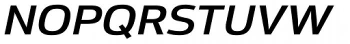 Moveo Sans Ext SemiBold Italic Font UPPERCASE