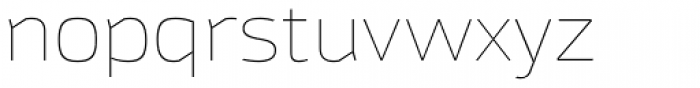 Moveo Sans Ext Thin Font LOWERCASE