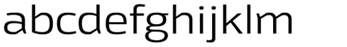 Moveo Sans Ext Font LOWERCASE