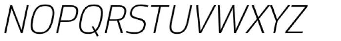 Moveo Sans Light Italic Font UPPERCASE