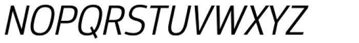 Moveo Sans SemiCond Italic Font UPPERCASE