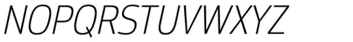 Moveo Sans SemiCond Light Italic Font UPPERCASE