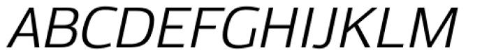 Moveo Sans SemiExt Italic Font UPPERCASE