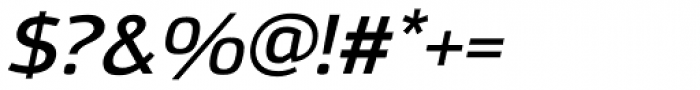 Moveo Sans SemiExt SemiBold Italic Font OTHER CHARS
