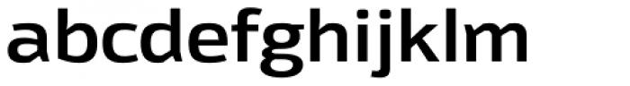 Moveo Sans SemiExt SemiBold Font LOWERCASE