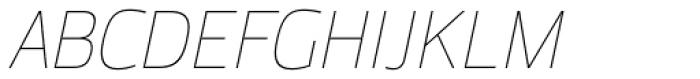 Moveo Sans Thin Italic Font UPPERCASE