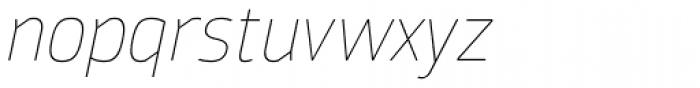 Moveo Sans Thin Italic Font LOWERCASE