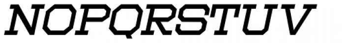 Moving Van Oblique JNL Font UPPERCASE