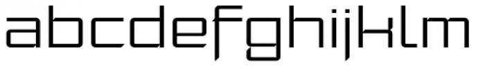 Moyenage Sans 42 Font LOWERCASE