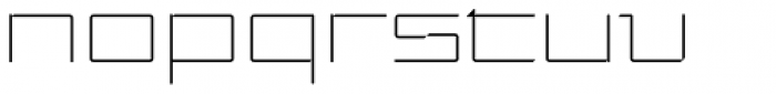Moyenage Sans 51 Font LOWERCASE