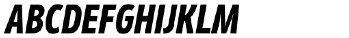 Mozer Heavy Italic Font UPPERCASE
