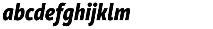 Mozer Heavy Italic Font LOWERCASE