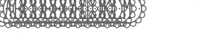 monogram petal full circle Font UPPERCASE