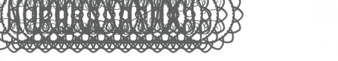 monogram script petal circle Font UPPERCASE