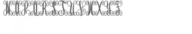 monogram script petal circle Font LOWERCASE