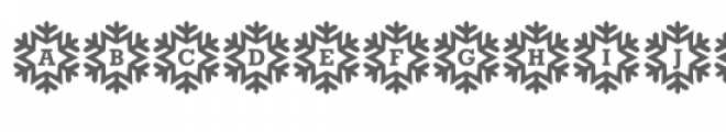 monogram snowflakes font Font LOWERCASE