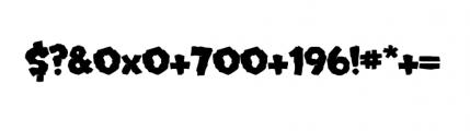 Mongo (plain) Font OTHER CHARS