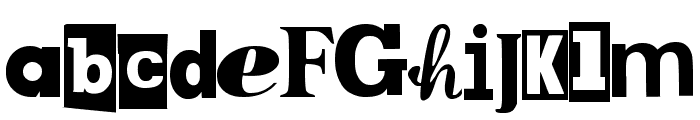 MPF Kidnapped Font LOWERCASE