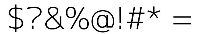 Mplus 1p Light Font OTHER CHARS