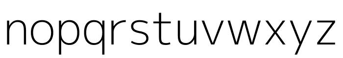 Mplus 1p Light Font LOWERCASE