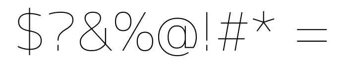 Mplus 1p Thin Font OTHER CHARS