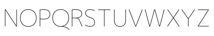 Mplus 1p Thin Font UPPERCASE