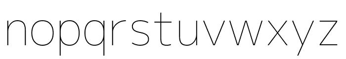Mplus 1p Thin Font LOWERCASE