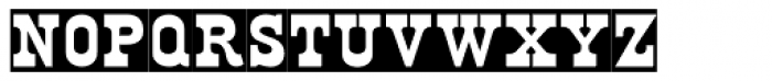 MPINorwich Aldine Reversed Font UPPERCASE