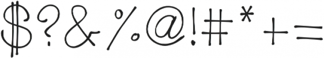 MRF my wandering heart otf (400) Font OTHER CHARS