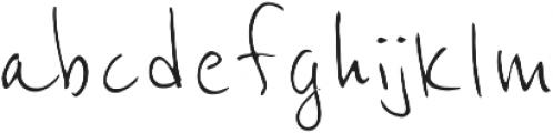 Mr. Handy otf (400) Font LOWERCASE