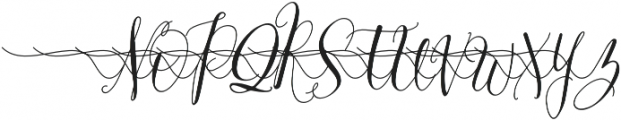 MrsStylishSwashesLeft otf (400) Font UPPERCASE