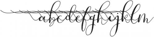 MrsStylishSwashesLeft otf (400) Font LOWERCASE