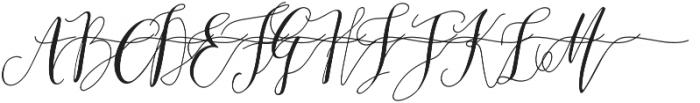 MrsStylishSwashesRight otf (400) Font UPPERCASE