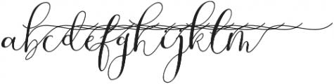 MrsStylishSwashesRight otf (400) Font LOWERCASE
