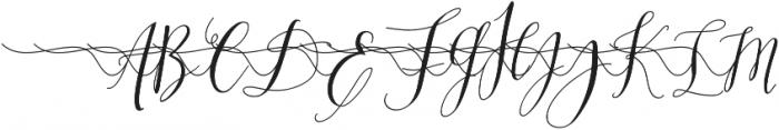 MrsStylishSwashesXtraLeft otf (400) Font UPPERCASE