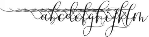 MrsStylishSwashesXtraLeft otf (400) Font LOWERCASE