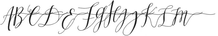 MrsStylishSwashesXtraRight otf (400) Font UPPERCASE