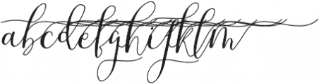 MrsStylishSwashesXtraRight otf (400) Font LOWERCASE