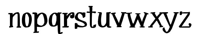 MRF Silverplume Font LOWERCASE