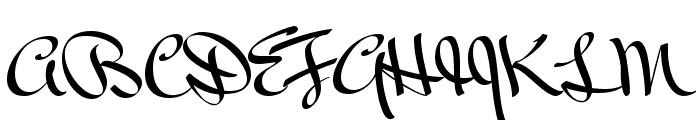 Mr Bedfort Regular Font UPPERCASE