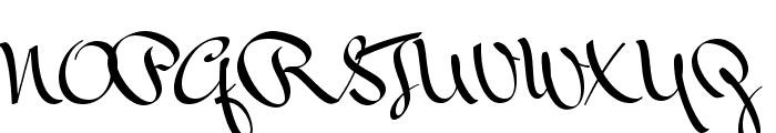 Mr Bedfort Font UPPERCASE