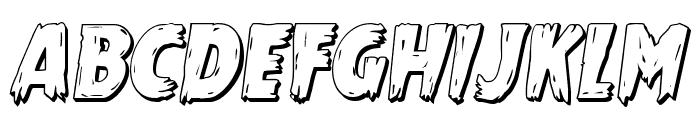 Mrs. Monster 3D Italic Font UPPERCASE